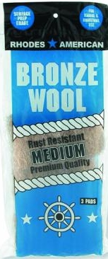 Bronze Wool 3 pad pack Medium