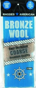 Bronze Wool 3 pad pack Coarse
